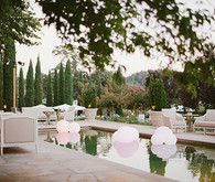 Romantic Outdoor Napa Wedding Cocktail Hour