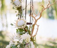Romantic Outdoor Napa Wedding Ceremony Decor