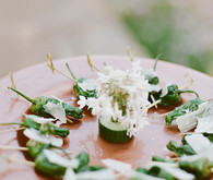 Romantic Outdoor Napa Wedding Food