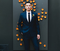 SmoggeeShoppe Wedding Groom in dark blue suit