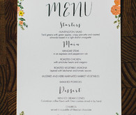 White and Orange Dinner Menu