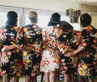 Bridesmaids in Flower Robes