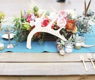 Modern Bohemian Southwestern Wedding Table Decor