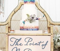 Modern Bohemian Southwestern Wedding Cake Table