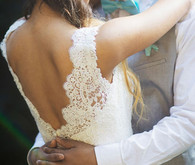 Lacey wedding dress