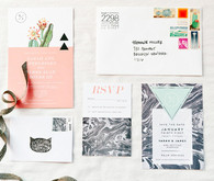Palm Springs Wedding Modern Invitation Set