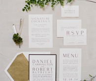 Modern Green and White Same Sex Wedding Invitiation