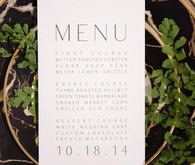 Modern Green and White Menu