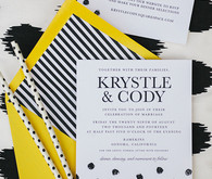 Kate Spade Inspired Wedding Invitations