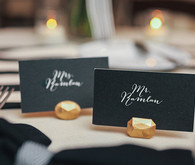 Kate Spade Inspired Wedding Escort Cards