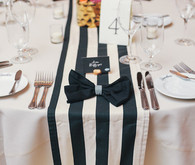 Kate Spade Inspired Wedding Place Setting
