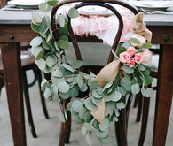 Intimate Desert Chic Palm Springs Wedding Chair Decor