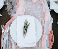Intimate Desert Chic Palm Springs Wedding Place Setting