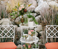 Intimate Desert Chic Palm Springs Wedding Decor