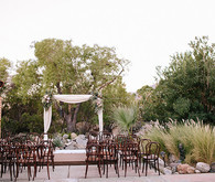Intimate Desert Chic Palm Springs Wedding Ceremony