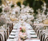 Intimate Desert Chic Palm Springs Wedding Tablescape