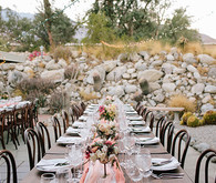 Intimate Desert Chic Palm Springs Wedding Reception