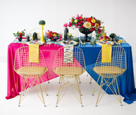 DVF Bridesmaid Party Inspiration Colorful Tablescape