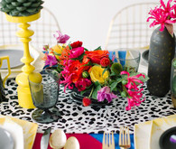 DVF Bridesmaid Party Florals and Table Decor
