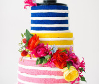 DVF Bridesmaid Party Colorful Cake