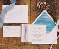 Romantic Mediterranean Wedding Invitations