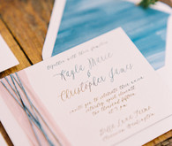 Romantic Mediterranean Wedding Invitation