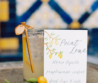 Romantic Mediterranean Wedding Cocktail