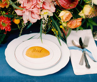 Romantic Mediterranean Wedding Place Setting