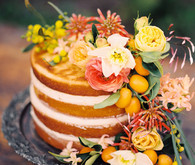 Romantic Mediterranean Wedding Naked Cake