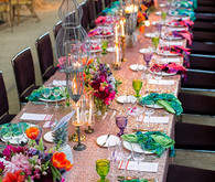 Parker Palm Springs Colorful Wedding Tablescape