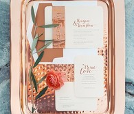 Copper & Coral Wedding Invitations