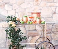 Copper & Coral Wedding Bar Cart