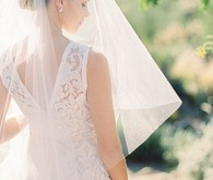 White Wedding Dress with Veil