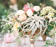 Copper & Coral Wedding Florals