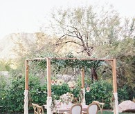 Copper & Coral Wedding Decor