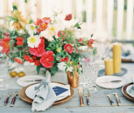 Colorful intimate dinner party
