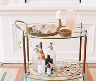 Mid century modern bar cart