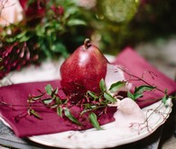 Pomegranate place setting