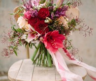 Berry and marsala bouquet