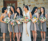 Grey JCrew bridesmaid dresses