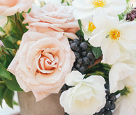 Rose and grape floral arrangement