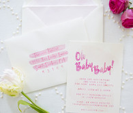 baby shower invites by Joya Rose