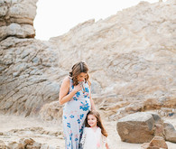 Beach maternity photos by Megan Welker