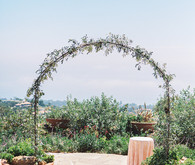 Greenery ceremony arch