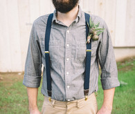 Bearded hipster groom