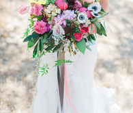 Colorful rustic bouquet