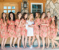 Colorful bridal party robes