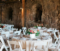 Rustic barn white tablescape