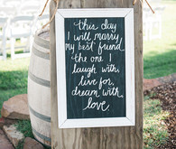 Rustic chalkboard quote