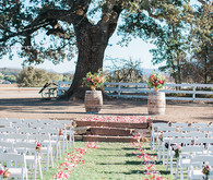 Ceremony aisle flower decor